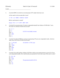 ©Zarestky Math 141 Quiz 10 Version B