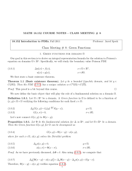 MATH 18.152 COURSE NOTES - CLASS MEETING # 8