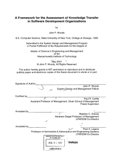 A Framework  for the  Assessment  of ... in  Software  Development  Organizations