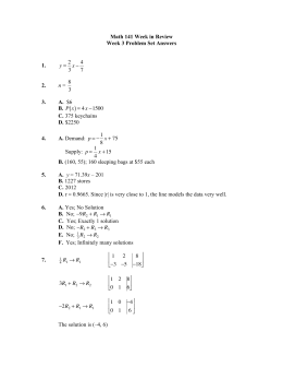 ( ) Math 141 Week in Review Week 3 Problem Set Answers