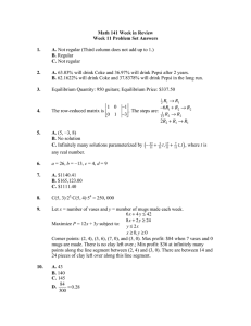 Math 141 Week in Review Week 11 Problem Set Answers  1.