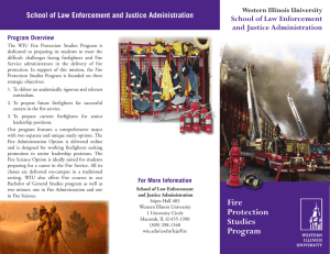 School of Law Enforcement and Justice Administration Western Illinois University