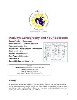 Activity: Cartography and Your Bedroom