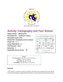 Activity: Cartography and Your School