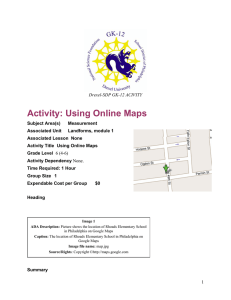 Activity: Using Online Maps