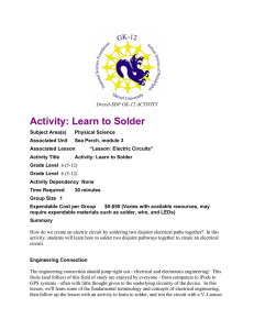 Activity: Learn to Solder