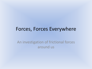 Forces, Forces Everywhere An investigation of frictional forces around us