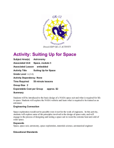 Activity: Suiting Up for Space