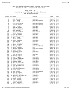 THE 32nd ANNUAL GENESEO CROSS COUNTRY INVITATIONAL MENS RACE - 8K