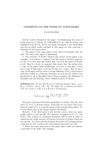COMMENTS ON THE PAPER BY M.BOUNKHEL linear maps in C
