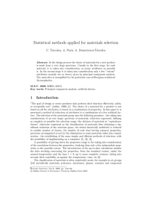 Statistical methods applied for materials selection