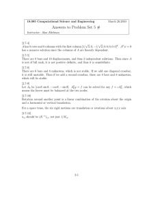 Answers to Problem Set 5 #