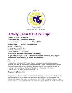 Activity: Learn to Cut PVC Pipe