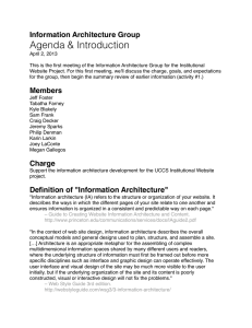 Agenda & Introduction Information Architecture Group