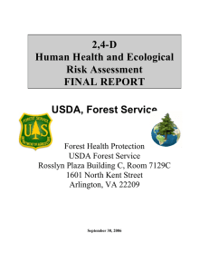 2,4-D Human Health and Ecological Risk Assessment FINAL REPORT