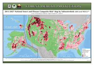 2013-2027 National Insect and Disease Composite Risk* Map by Subwatersheds LEGEND