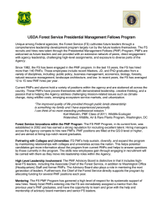 USDA Forest Service Presidential Management Fellows Program