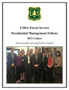 USDA Forest Service Presidential Management Fellows 2014 Cohort 2015