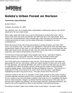 Goleta's Urban Forest on Horizon