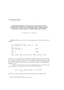 HOMOGENIZATION OF ELLIPTIC EQUATIONS WITH QUADRATIC GROWTH IN PERIODICALLY PERFORATED