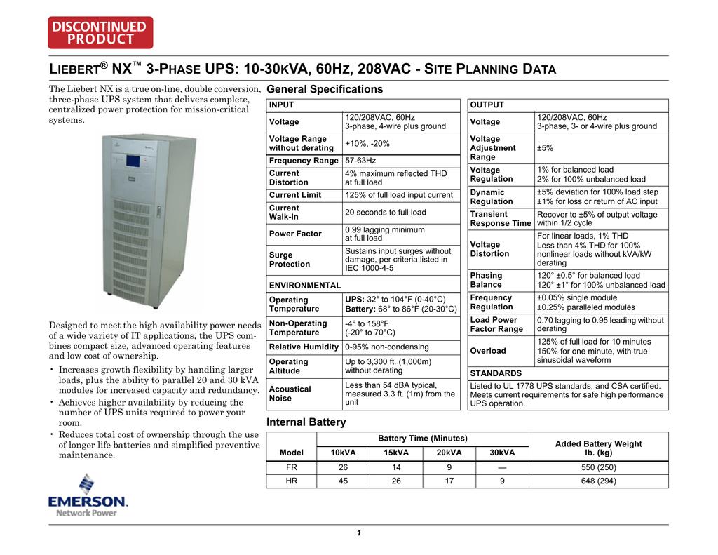 L NX 3-P UPS: 10-30