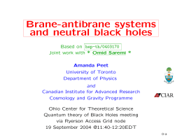 Brane-antibrane systems and neutral black holes