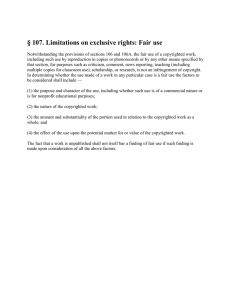 § 107. Limitations on exclusive rights: Fair use