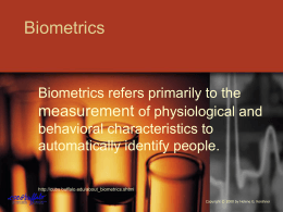 Biometrics measurement