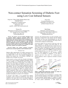 Non-contact Sensation Screening of Diabetic Foot using Low Cost Infrared Sensors