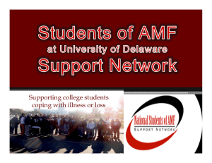 Supporting college students coping with illness or loss