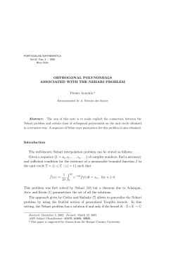 ORTHOGONAL POLYNOMIALS ASSOCIATED WITH THE NEHARI PROBLEM