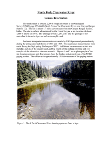 North Fork Clearwater River General Information