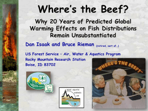 Where's the Beef?  Why 20 Years of Predicted Global
