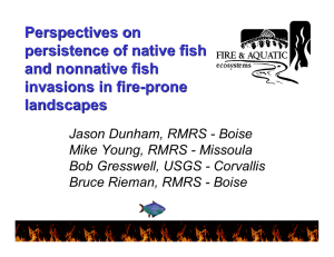 Perspectives on persistence of native fish and nonnative fish invasions in fire-prone