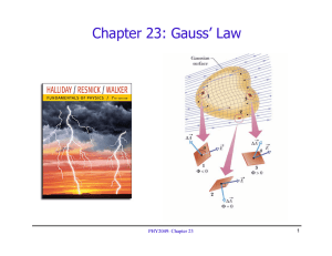 Chapter 23: Gauss' Law PHY2049: Chapter 23 1