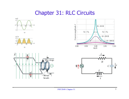 Chapter 31: RLC Circuits PHY2049: Chapter 31 1