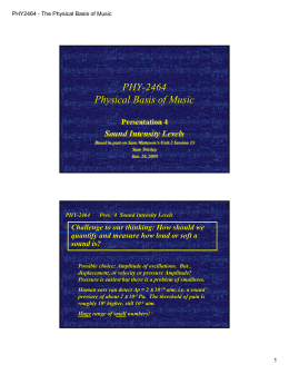 PHY-2464 Physical Basis of Music PHY -