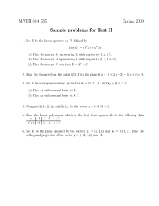 MATH 304–505 Spring 2009 Sample problems for Test II