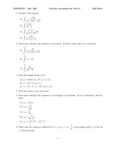 MATH152 – 201, 202 Practice problems for Test 2 Fall 2014