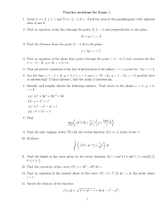 Practice problems for Exam 1.