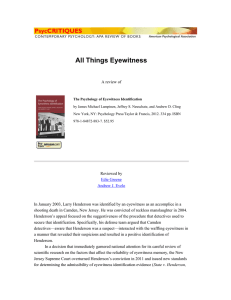 All Things Eyewitness A review of