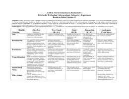 iRubric: Undergraduate Writing Assignment rubric