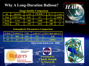 HAWK Why A Long-Duration Balloon? Image Quality Comparison