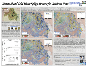 Climate Shield Cold - Water Refuge Streams for Cutthroat Trout