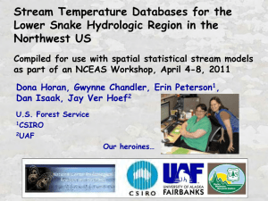 Stream Temperature Databases for the Lower Snake Hydrologic Region in the