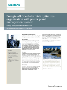 Energie AG Oberösterreich optimizes organization with power plant management system