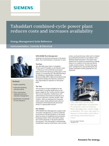 Tahaddart combined-cycle power plant reduces costs and increases availability