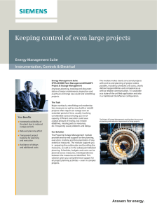 Keeping control of even large projects Energy Management Suite