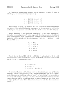 CSE396 Problem Set 8 Answer Key Spring 2016