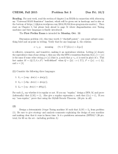 CSE596, Fall 2015 Problem Set 3 Due Fri. 10/2